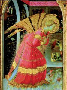 Angel brightly dressed